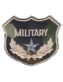 Military Army Camouflage Crest (Silver Star)