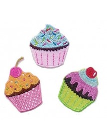 Cupcakes Vintage Style (Set of 3)